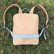 Сумки и аксессуары handmade. Livemaster - original item Backpack Python skin VESTA. Handmade.