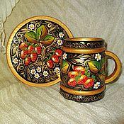 Посуда ручной работы. Ярмарка Мастеров - ручная работа Сувенирный набор посуды  Клубничное варенье. Handmade.