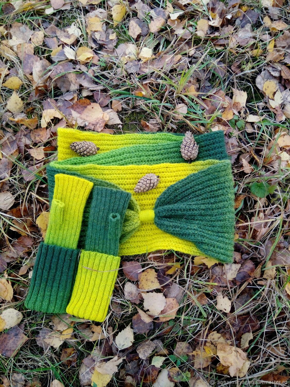 Kit Snood fingerless gloves Forest, Headwear Sets, Zaraysk,  Фото №1