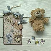 """Открытки ручной работы. Ярмарка Мастеров - ручная работа Тэг """"Teddy"""". Handmade."""