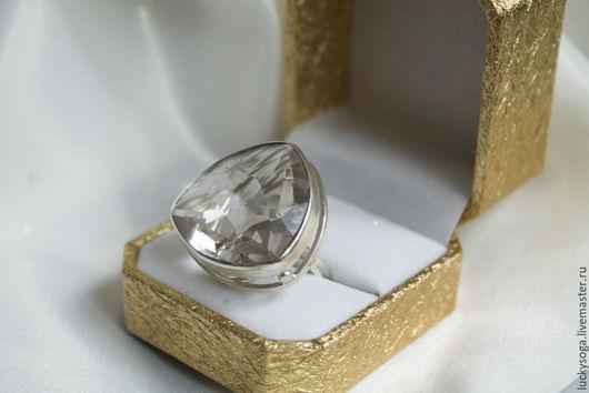 """Кольца ручной работы. Ярмарка Мастеров - ручная работа. Купить кольцо  с горным хрусталем """" Звезда - 2"""". Handmade. Белый"""