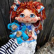 """Текстильная кукла  """"Радость моя"""" Василиска.Интерьерная кукла."""