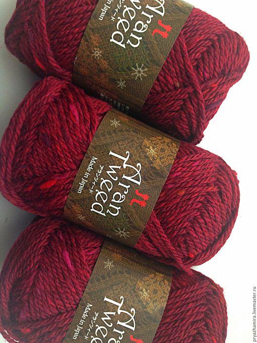 Вязание ручной работы. Ярмарка Мастеров - ручная работа. Купить Пряжа Aran Tweed тон 6 (Япония). Handmade. Бордовый