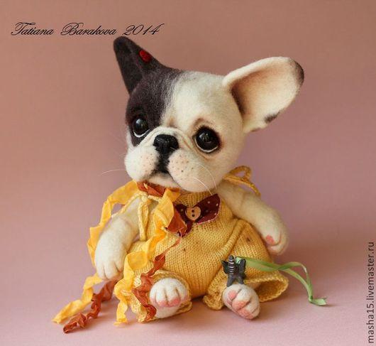 """Куклы и игрушки ручной работы. Ярмарка Мастеров - ручная работа. Купить """"Клер"""". Handmade. Собака, авторская игрушка"""
