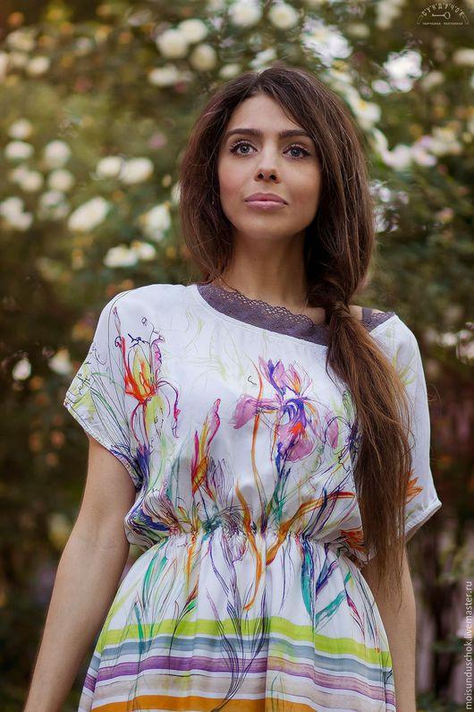 """Платья ручной работы. Ярмарка Мастеров - ручная работа. Купить Платье """"Чистые лучи"""". Handmade. Комбинированный, платье на заказ"""