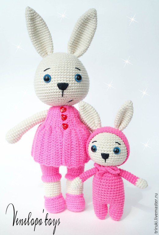 Master-class 'Hare Mother and child' (2 in 1), Knitting patterns, Korolev,  Фото №1