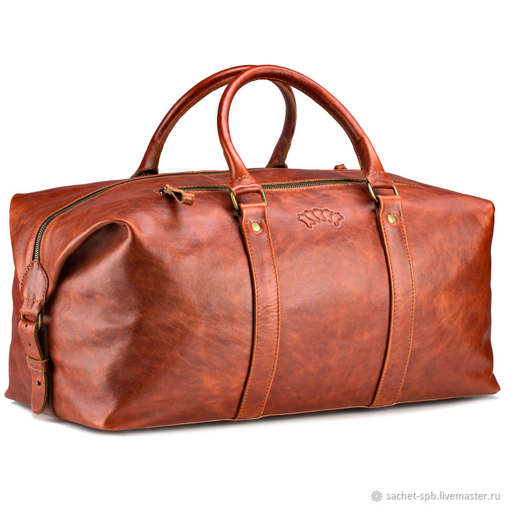 Leather travel sport bag (red antique), Sports bag, St. Petersburg,  Фото №1