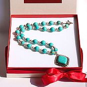 """Украшения handmade. Livemaster - original item Ожерелье из натуральных камней говлита """"Путь к себе!"""". Handmade."""