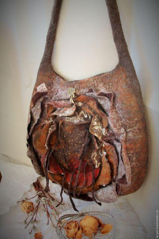 Женские сумки ручной работы. Ярмарка Мастеров - ручная работа. Купить Сумка валяная А роза упала.... Handmade.
