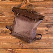 Рюкзаки ручной работы. Ярмарка Мастеров - ручная работа Кожаный рюкзак. Handmade.