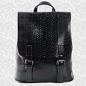 Рюкзаки ручной работы. Ярмарка Мастеров - ручная работа Женский кожаный рюкзак сумка трансформер чёрный натуральная кожа. Handmade.