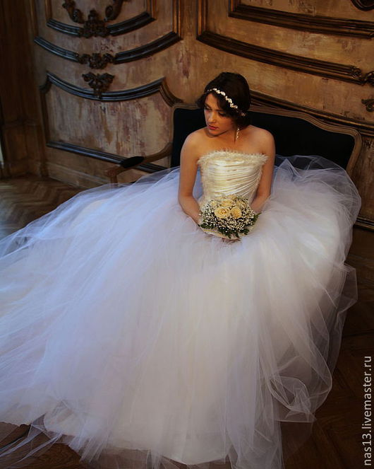 Одежда и аксессуары ручной работы. Ярмарка Мастеров - ручная работа. Купить свадебное платье 1. Handmade. Белый, свадьба