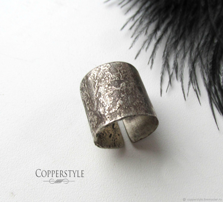 Широкое кольцо из мельхиора Темный рыцарь, Кольца, Курган,  Фото №1