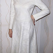 "Одежда handmade. Livemaster - original item Dress felting on the silk ""Snowstorm"". Handmade."