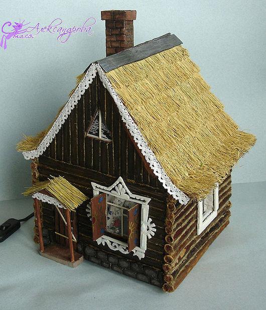 Кукольный дом ручной работы. Ярмарка Мастеров - ручная работа. Купить Деревенский домик. Handmade. Уютный домик, светильник для детской