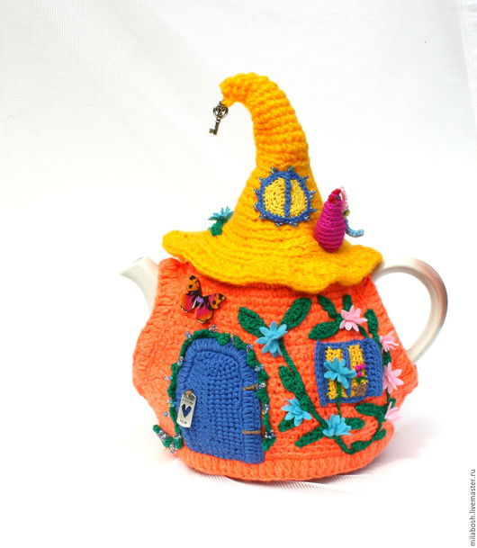 """Новый год 2017 ручной работы. Ярмарка Мастеров - ручная работа. Купить Грелка на чайник """"Ку-ка-ре-ку"""". Handmade."""