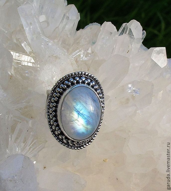 Ring, the Oval moonstone large, Rings, Ubud,  Фото №1