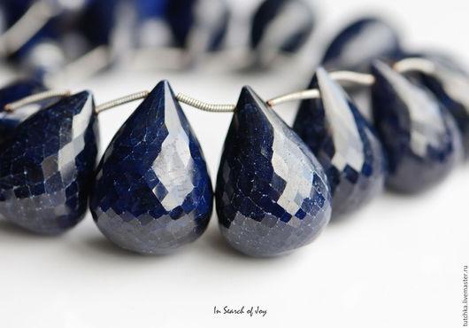 Для украшений ручной работы. Ярмарка Мастеров - ручная работа. Купить Большой размер синий сапфир граненый круглый бриолет 12-38мм. Handmade.