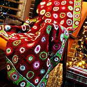 Для дома и интерьера handmade. Livemaster - original item Christmas knitted plaid