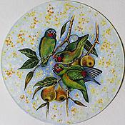 Картины и панно handmade. Livemaster - original item Murals on vinyl Parrots. Handmade.