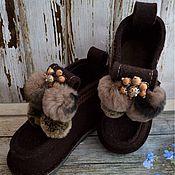"""Обувь ручной работы. Ярмарка Мастеров - ручная работа Дизайнерские валеши """"Корица"""". Handmade."""