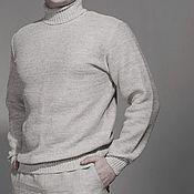 Мужская одежда handmade. Livemaster - original item 100% linen Men`s sweater. Handmade.