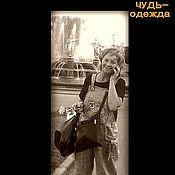 Одежда ручной работы. Ярмарка Мастеров - ручная работа Комбез льняной с Вороной и Ягой!. Handmade.