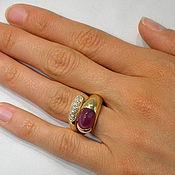 Украшения handmade. Livemaster - original item Golden ring with ruby and diamonds.. Handmade.
