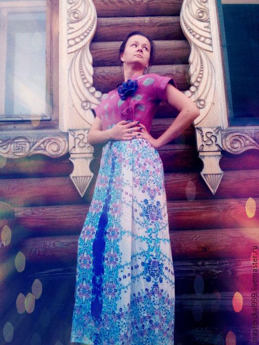 """Платья ручной работы. Ярмарка Мастеров - ручная работа. Купить Коллекция """" Ванильные небеса"""". Handmade. Брусничный, шелковое платье"""
