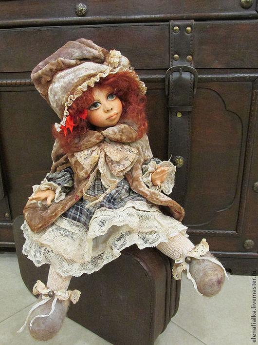 """Коллекционные куклы ручной работы. Ярмарка Мастеров - ручная работа. Купить Герда( """"Новогодняя сказка""""). Handmade. Бледно-розовый, девочка"""