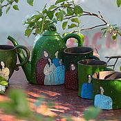 """Посуда ручной работы. Ярмарка Мастеров - ручная работа Набор посуды """"Сила рода"""". Handmade."""
