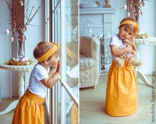 Одежда для девочек, ручной работы. Ярмарка Мастеров - ручная работа. Купить юбочка  Солнышко. Handmade. Оранжевый, девочка, детская одежда