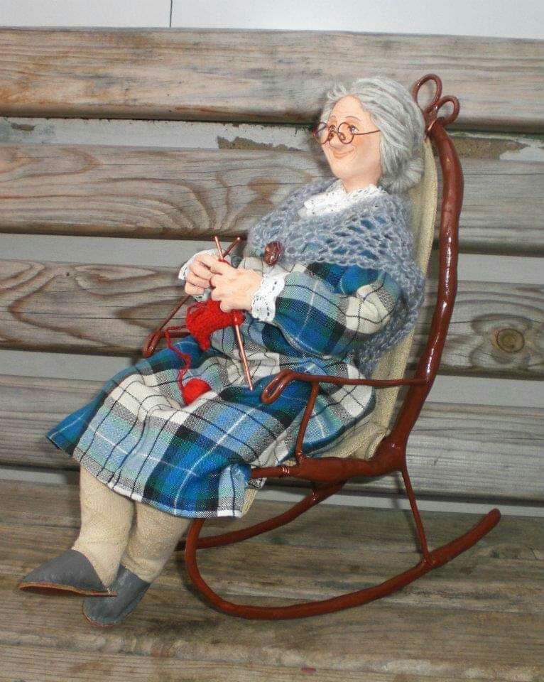 Моя любимая бабушка, Портретная кукла, Винница,  Фото №1