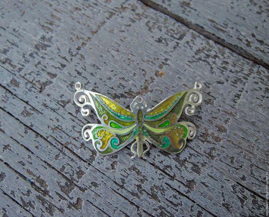 """Броши ручной работы. Ярмарка Мастеров - ручная работа. Купить Брошь / подвеска """"Бабочка"""". Handmade. Разноцветный, бабочка"""