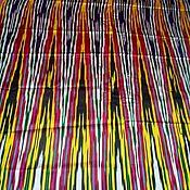 Материалы для творчества ручной работы. Ярмарка Мастеров - ручная работа Узбекский винтажный шелковый икат Хан атлас 3 метра. Handmade.