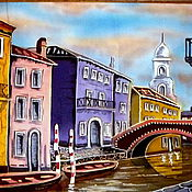 """Картины и панно ручной работы. Ярмарка Мастеров - ручная работа Декоративное панно """"Еще раз о Венеции"""". Handmade."""