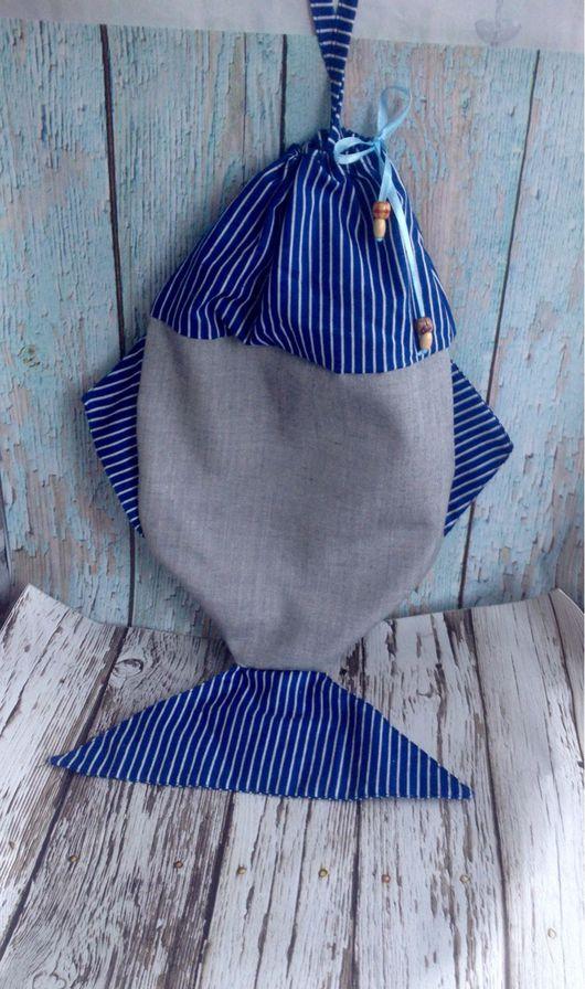 Кухня ручной работы. Ярмарка Мастеров - ручная работа. Купить Рыбка - для хранения (пакетница, пижамница). Handmade. Пакетница, пакетница рыба