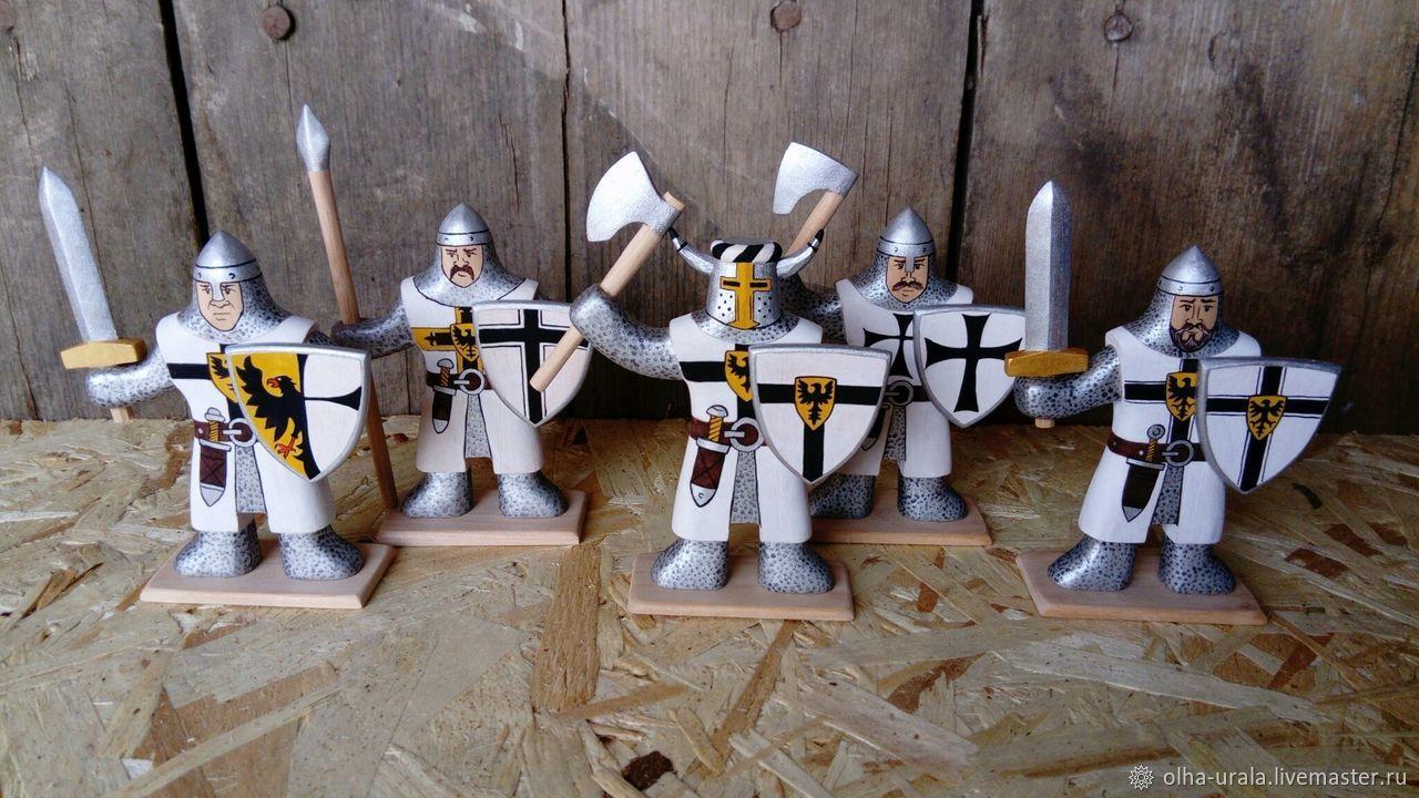 Деревянные солдатики. Рыцари тевтонцы, Военная миниатюра, Уйское,  Фото №1