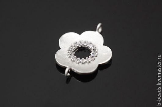 """Для украшений ручной работы. Ярмарка Мастеров - ручная работа. Купить Коннектор """" цветочек """" Южная Корея. Handmade."""