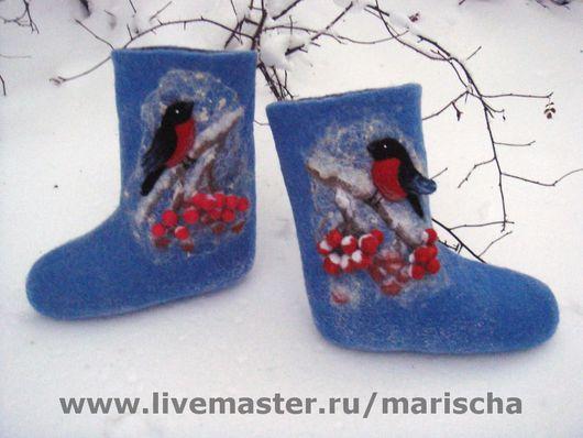 """Обувь ручной работы. Ярмарка Мастеров - ручная работа. Купить Валенки ручной работы """"Зима"""". Handmade. Валенки ручной валки"""