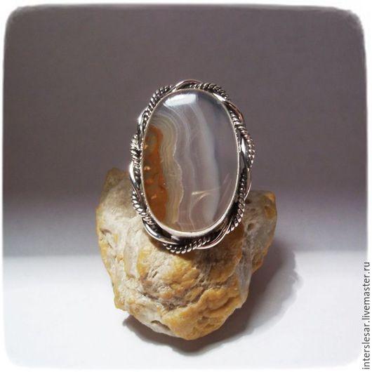 """Кольца ручной работы. Ярмарка Мастеров - ручная работа. Купить Агат кольцо """"Винтаж"""". Handmade. Разноцветный, кольцо с камнем, винтаж"""