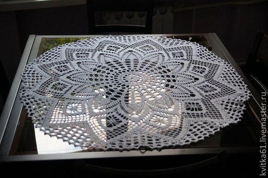 Текстиль, ковры ручной работы. Ярмарка Мастеров - ручная работа. Купить Ажурная нежность. Handmade. Салфетка, нитки хлопок Ирис