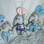Мягкие игрушки ручной работы. Ярмарка Мастеров - ручная работа Крыса металлическая символ года игрушка на ёлку текстиль грунтованый. Handmade.