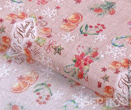 Упаковка ручной работы. Ярмарка Мастеров - ручная работа. Купить Бумага тишью новогодняя Пряности и радости. Handmade. Бумага тишью