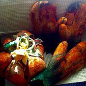 """Для дома и интерьера ручной работы. Ярмарка Мастеров - ручная работа Комплект для бани - сауны """" Царь - тыква"""". Handmade."""