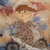 Картины и панно ручной работы. Ярмарка Мастеров - ручная работа Картина из шерсти Осенняя прогулка. Handmade.