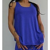 Одежда ручной работы. Ярмарка Мастеров - ручная работа Женский комплект Royal Blue. Handmade.