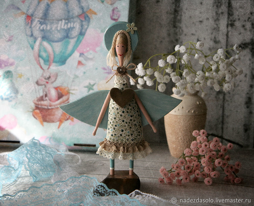Angel interior Believe in miracles. Angel decoupage, Figurine, Khimki,  Фото №1