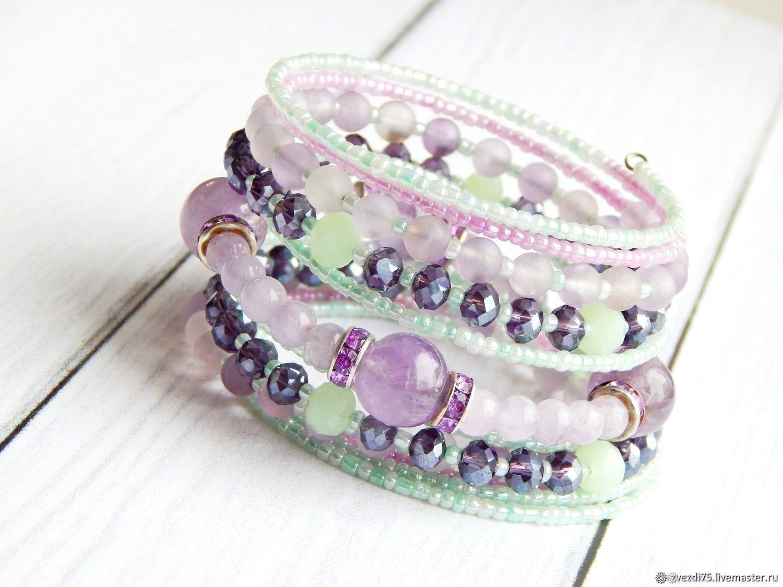 The Melody of summer bracelet amethyst, Bead bracelet, Minusinsk,  Фото №1