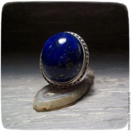 Кольца ручной работы. Ярмарка Мастеров - ручная работа. Купить Лазурит кольцо. Handmade. Тёмно-синий, ляпис-лазурь
